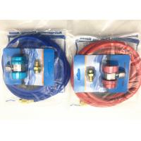 Wholesale Red and Blue Color r134a refrigerant hose with Brass Fittings and Charge couplers from china suppliers