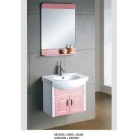Wholesale wall mount cabinet / PVC bathroom vanity / hung cabinet / white color for bathroom 60 X49/cm from china suppliers