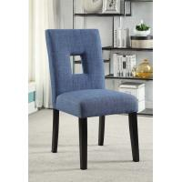 Wholesale Soft Corners Blue Fabric Dining Room Chairs With Craftsmanship Tailoring from china suppliers