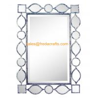 Wholesale Factory Direct Price Metal Geometric Drawing Decorated Rectangle Living Room Wall Mirror from china suppliers