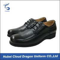 Wholesale Black Real Leather Security Officer Shoes / Security Work Boots For Spring from china suppliers