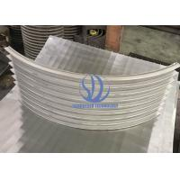 Wholesale Liquid Fitration Trommel Made Of 8 Parts Bent Wedge Wire Screens , 50 Micron Slot Size from china suppliers