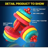 Wholesale 10kg 15kg 20kg  25kg 30kg 40kg Colorful Vinyl Coated  Rubber Dumbbell Set from china suppliers