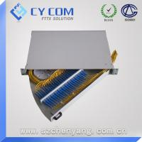 Wholesale 19'' Rotary Type Rack Mounted fiber termination box , 24 ports FTTH terminal box from china suppliers
