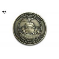 Wholesale Helicopter Shape Marine Corps Challenge Coins , Custom Commemorative British Coins from china suppliers
