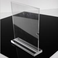 Wholesale Fashion Vertical A4 Size Clear Acrylic Stand Up Sign Holder Portrait Removable Solid Base from china suppliers