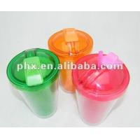 Buy cheap New plastic tumbler with straw from wholesalers