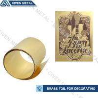 Wholesale High-precision brass foil with wide width:1.0~650mm/applied to lamination, heating foils, etch etc. from china suppliers