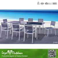 Wholesale Modern 12 Seater Extending Dining Table Bistro Outdoor Furniture Set Multiple Color from china suppliers