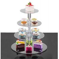 Wholesale 4 tier round PMMA acrylic cake display rack from china suppliers