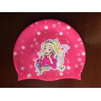 Wholesale Custom Food Grade Silicone Swim Cap with Thermal Transfer Printing from china suppliers