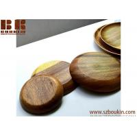 Wholesale Super KD Wooden Serving Tray Decorative Round Tray Serve for Food Coffee or Tea (25cm, Brown) from china suppliers