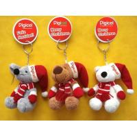 Wholesale Small Hanging Teddy Bear Pendant Stuffed Keychain Christmas Plush Toys OEM from china suppliers