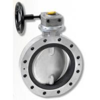 China Worm gear double flange butterfly valve on sale