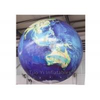 Wholesale Durable PVC Earth Globe Balloons Inflatable Earth Map Ball with LED Light from china suppliers