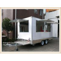 Wholesale CE approved GRP White Color Street Food Vans Mobile Food Trailer from china suppliers