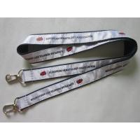 Wholesale High Quality Personalized Satin Ribbon Overlaid Double Ends Lanyard Direct Factory from china suppliers