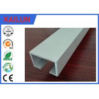 Wholesale Curtain Track System Silver Anodized Aluminium U Channel Weather Resistance from china suppliers
