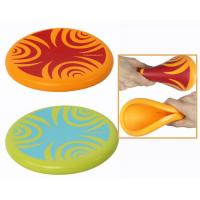 Wholesale soft rubber frisbee, silicone frisbee, flying disc toy, measure 20*20*2cm from china suppliers
