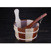 Wholesale Baltic Leisure Wooden Sauna Bucket And Ladle Set , PE Plastic linner from china suppliers