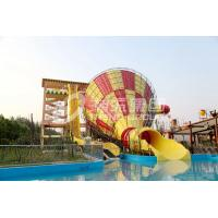 Wholesale Super Tornado Fiberglass Water Slides With 14.6m Platform Height from china suppliers