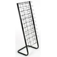 Wholesale 20 Pockets Paper Magazine Display Racks With Chrome Plating from china suppliers