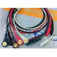 Wholesale LL Style ECG Monitor Cable , 5 Leads Snap AHA Ecg Cables And Leadwires from china suppliers