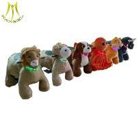 China Hansel  new coin operated battery plush animal electric scooter for shopping mall on sale