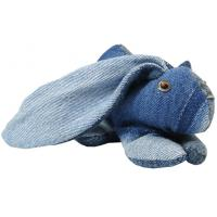 Wholesale Jeans transform lovely rabbit stuffed animals , recycled Denim doll 18CM bunny plush toy from china suppliers