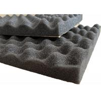 Wholesale Self - adhesive PU Foam Insulation Material Black Wavy Shape For Noise Reduction from china suppliers