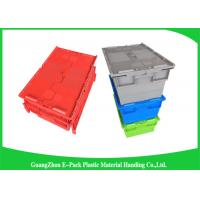Wholesale Logistics Nestable Stackable Heavy Duty Plastic Storage Containers With Attached Lids from china suppliers