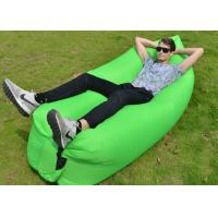 Wholesale 10 seconds Fast Inflatable Laybag Sleeping Bag , Outdoor Inflatable Toys Air Lounger from china suppliers