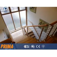 Buy cheap Stainless steel stair hand railings/post railings with wood handrail from wholesalers