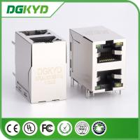Wholesale KRJ -2013GYNL 100 Base - T 2 Port RJ45 , Stacked Right Angle RJ45 Dip Mount from china suppliers