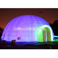 Wholesale Two Doors Inflatable Dome Tent With Powerful Blower Internal Lighting from china suppliers
