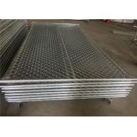 """Wholesale 6'x9.5' construction chain link fence 2⅜""""x2⅜""""(60mmx60mm) chain mesh aperture tubing 38mm x 16 ga wall thick from china suppliers"""
