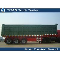 100 Ton Heavy Duty Side Dump Trailer with 3 axles for Construction Transportation