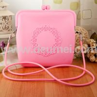 Wholesale New Fashion Ladies Leisure Silicone Shoulder Bag Customized Color Coin Pouch from china suppliers