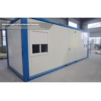 Wholesale Waterproof Steel Blue and White Prefab Container House with EPS Sandwich Panel from china suppliers