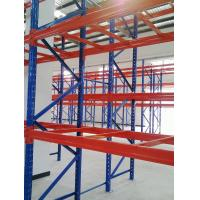Buy cheap Steel / Wood Selective Warehouse Store Industrial Pallet Racking System, 800-1800mm Depth from wholesalers