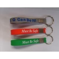 Buy cheap silicone wristband keychain manufacturer from wholesalers