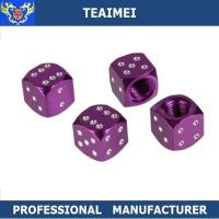 Wholesale Black / Purple Dice Shaped Truck / Motorcycle / Bicycle Tire Valve Caps from china suppliers