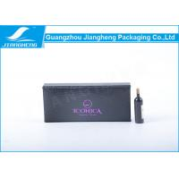 Wholesale Black Coated Paper Eyelashes Packaging Box Book Shape With Purple Hot Stamping from china suppliers