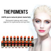 Wholesale OEM Pure Natural Plant Semi Permanent Makeup Pigments For Eyebrow Tattoo from china suppliers
