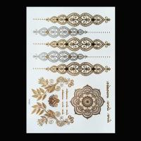 Wholesale Black Color Metallic Tattoo Stickers , Shimmer Metallic Jewelry Tattoos from china suppliers