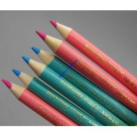 Wholesale printing stamped color pencil,logo printed colored wooden pencil,china factory from china suppliers