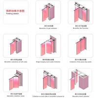 Aluminum frame customized wooden partition soundproof movable partitions for office and hotel