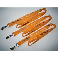 Wholesale Imprint polyester badge lanyard with metal card clip, polyester id card lanyard in bulk, from china suppliers