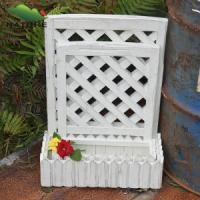 Wholesale Rectangle Wood Flower pot with White Color from china suppliers