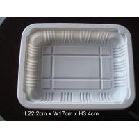 Buy cheap 222*170mm Disposable plastic take away food tray suitable for sealing film cover from wholesalers